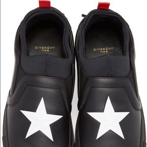 Givenchy Black Star Slip On Sneakers